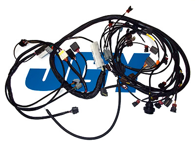 jgy wiring specialties harnesses nissan 240sx nissan sentra rb26dett wiring harness for s14 240sx pro series ecu option haltech pro plug in injector options stock rb26 ev1 afm option convert to haltech
