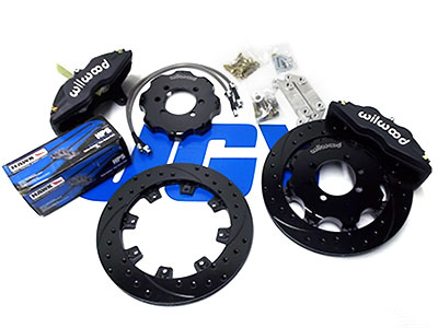 Wilwood 4 Piston 1175 Inch Front Brake Kit For 91 99 Sentra NX With 2 Piece Slotted Dimp Drilled Rotors